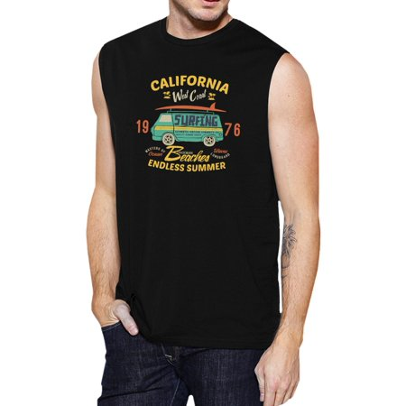 1fee475696f 365 Printing - Endless Summer Mens Black Sleeveless Vintage Cotton Muscle  Shirt - Walmart.com