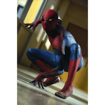 Andrew Garfield in a Spiderman Costume Ready to Attack Photo Print