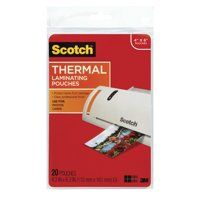 Scotch Premium Thermal Laminating Pouch 20 Pack, 4 x 6 Inch Sheets