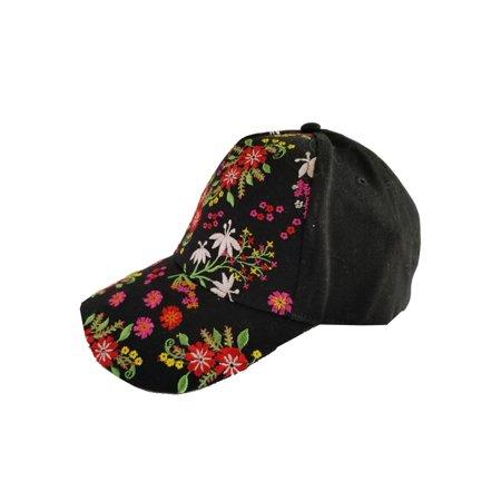 e11000c36 Top Headwear Floral Embroidery Baseball Cap - Black | Walmart Canada