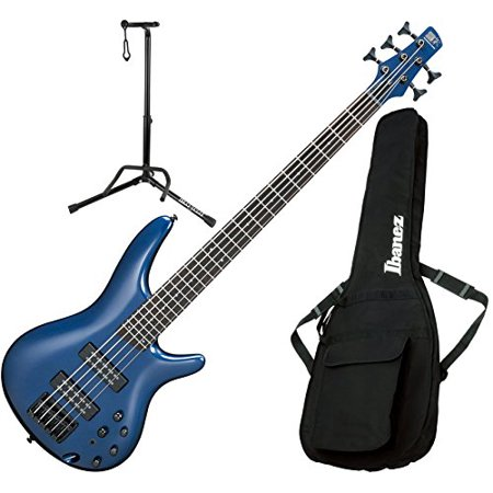 Ibanez SR305EBNM 5 String Navy Metallic Electric Bass Guitar with Gig Bag and Stand