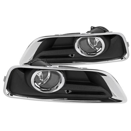 - Spec-D Tuning For 2013-2015 Chevy Malibu Clear Fog Lights Bumper Driving Lamps w/ Switch Left+Right 2014