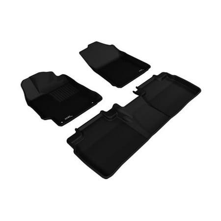 3d maxpider custom fit complete kagu black floor mat for 2015 2016 toyota camry camry hybrid. Black Bedroom Furniture Sets. Home Design Ideas