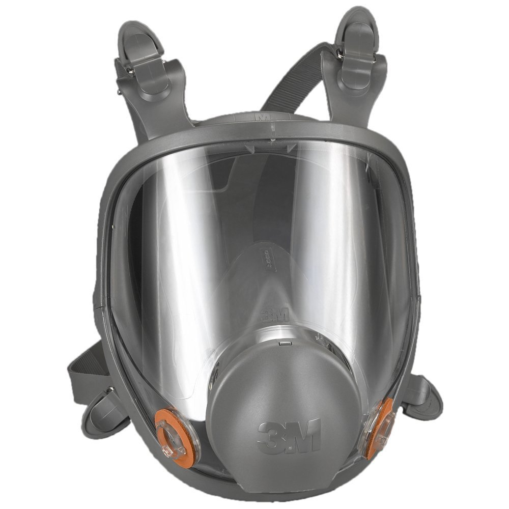 3M Small Thermoplastic Elastomer Full Face 6000 Series Reusable Respirator With 4 Point Harness And Bayonet Connection
