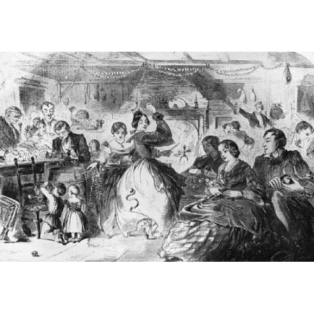 Fall Games  The Apple Bee 1859 Winslow Homer Wood Engraving Poster Print