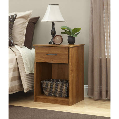 Click here to buy Mainstays 1-Drawer Nightstand   End Table, Espresso by Ameriwood Industries.