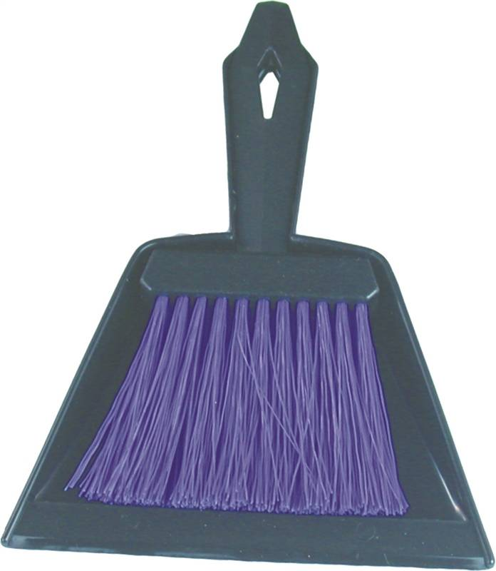 Birdwell Cleaning 376-24 Mini Whisk Broom With Dust Pan, 9-3 4 in OAL, Polypropylene Fiber by Birdwell Cleaning