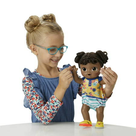 Baby Alive Step 'n Giggle Baby (Black Hair), for Ages 3 and (Hasbro Baby Alive My Baby All Gone)