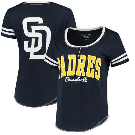 San Diego Padres 5th & Ocean by New Era Women's Slub Henley T-Shirt -
