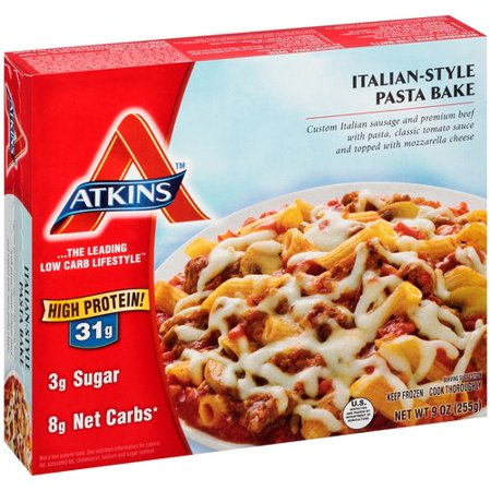 Atkins italian style pasta bake 9 oz for Atkins cuisine penne pasta 12 oz 340 g
