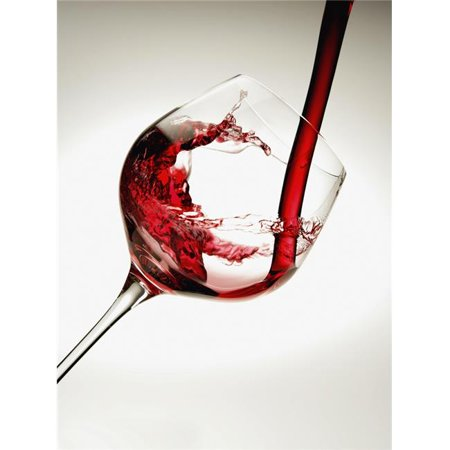 Design Pics DPI2317413LARGE Red Wine Pouring Into A Glass Poster Print, 26 x 36 - Large ()