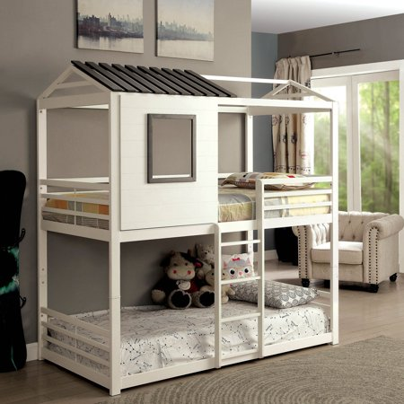 Furniture Of America Hansel Playhouse Twin Over Bunk Bed