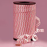 3/8 Inches X 250YD PEPPERMINT STICK CURLING (Ribbon Sticky)