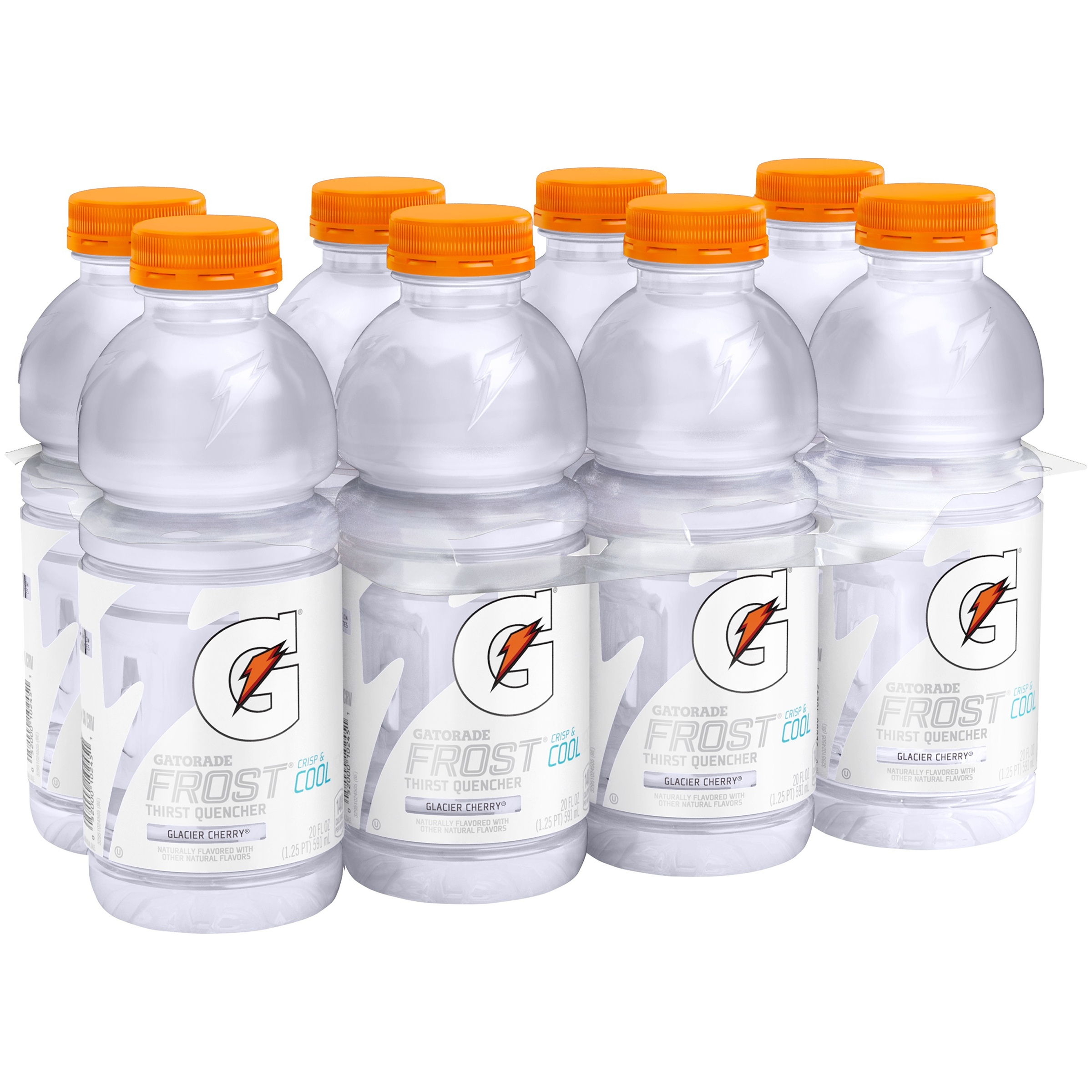 Gatorade Thirst Quencher Sports Drink, Glacier Cherry, 20 Fl Oz, 8 Count