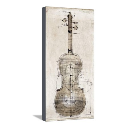 Violin Study, Back Stretched Canvas Print Wall Art By Symposium ...