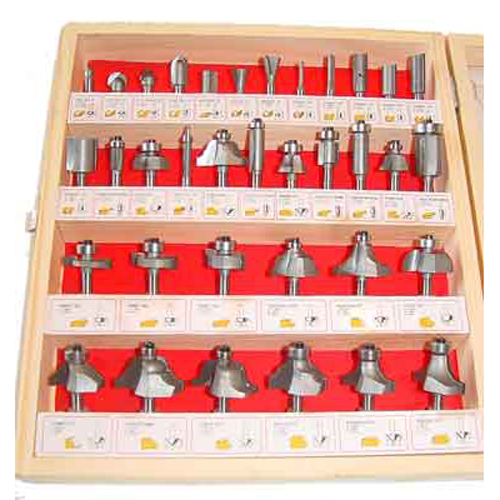 "35 Piece Carbide Router Bits Wood Set 1/4""Shank Woodworking Tools"