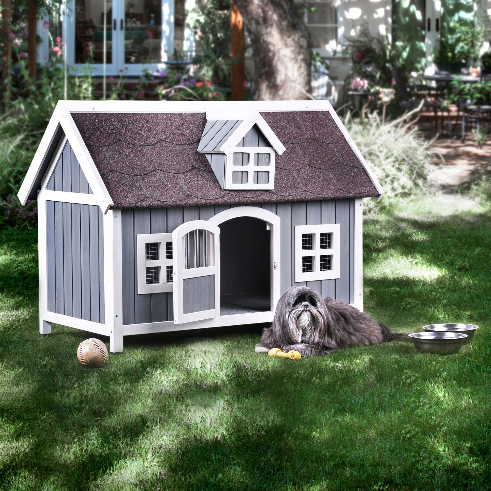 Furniture of America Cooker Contemporary 2 Tone Dog House