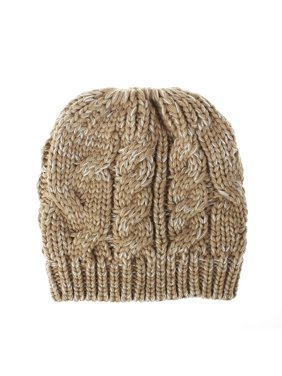 AkoaDa 8 Colors Kids Baby Grils Messy Bun Ponytail Beanie Stretch Knitted Winter Warm Hats