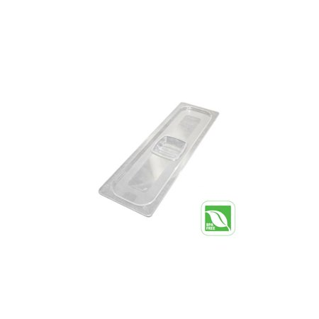 - Rubbermaid FG141P00CLR Clear Half Size Long Cold Food Pan Cover