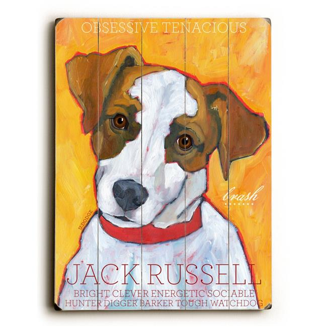 Artehouse LLC Jack Russell by Ursula Dodge Graphic Art Plaque