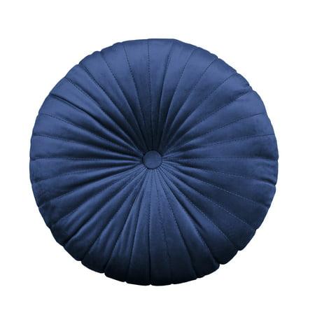 """Better Homes & Gardens Round Tufted Velvet Pillow, 18"""" X 18"""", Sapphire by Better Homes & Gardens"""