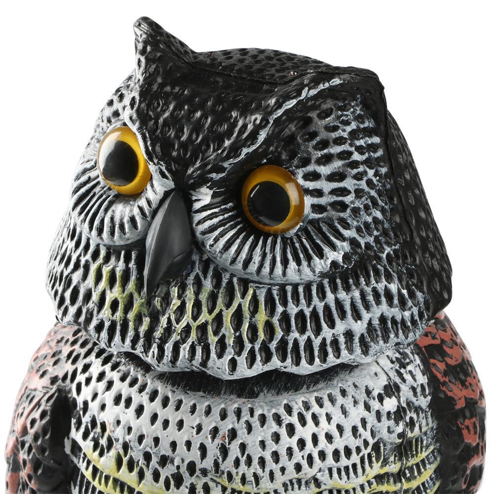 ... Topeakmart Garden Defense Owl Decoy With Rotating Head Repellent Bird  Scarer ...