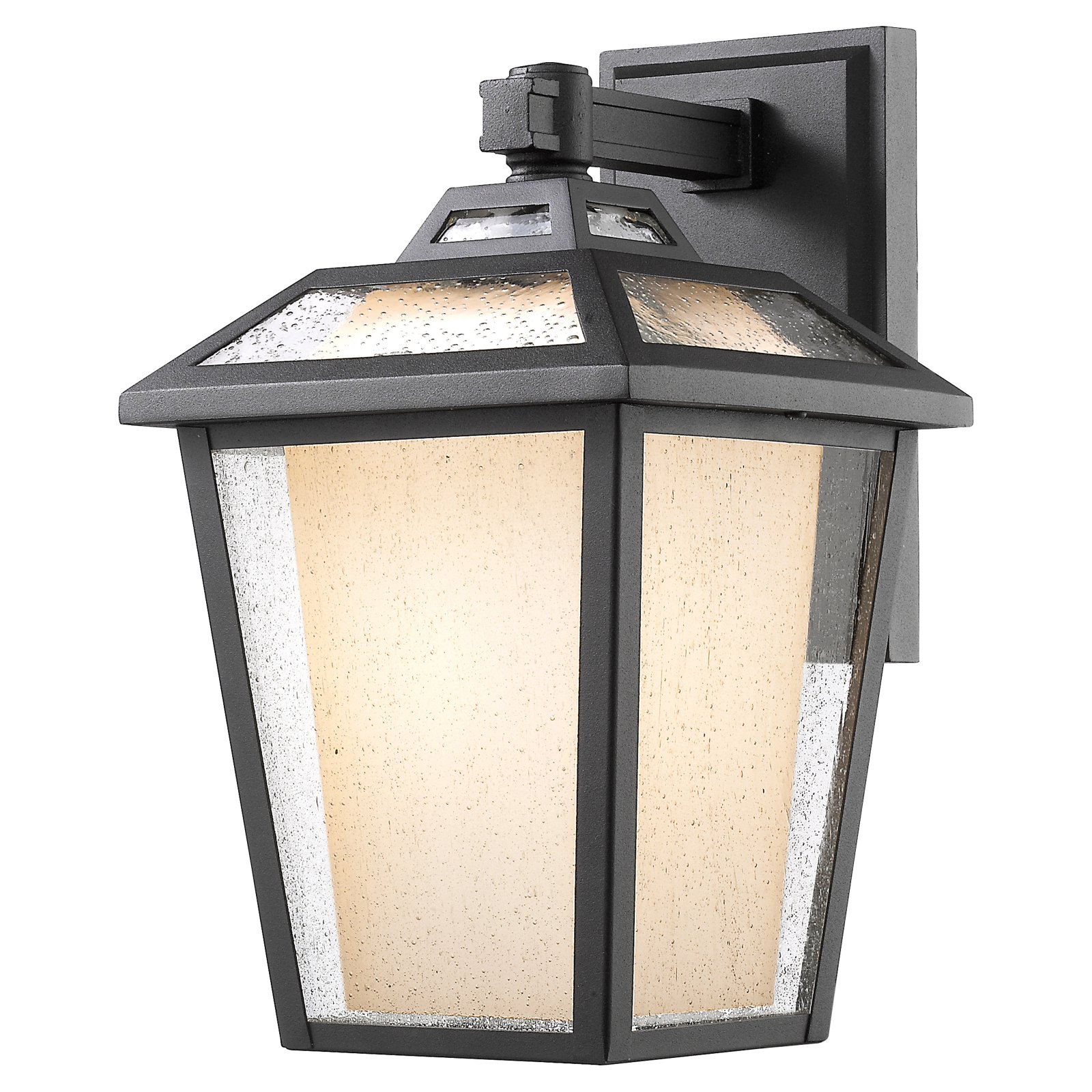 Z-Lite Memphis 1 Light Outdoor Wall Light in Black