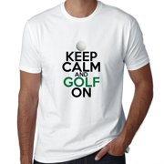 Keep Calm And Golf On - Classic Golfing Men's T-Shirt