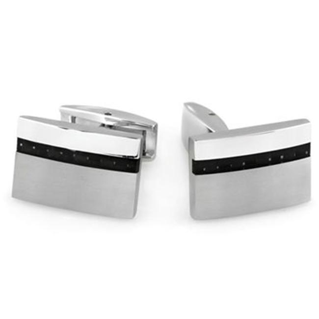 Legere TCL-003 Carbon Fiber and Stainless Cuff Links