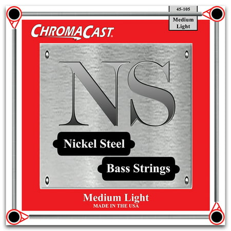 ChromaCast Nickel Steel Bass Guitar Strings, Medium Light