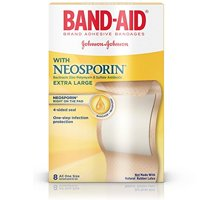 Band-Aid Brand Adhesive Bandages with Neosporin, Extra Large, 8 Count