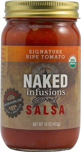 Naked Infusions Organic Gourmet Salsa Medium Heat Signature Ripe Tomato 16 oz by Naked Infusions