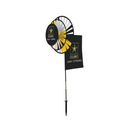 In the Breeze Army Military Outdoor Garden Wind Spinner