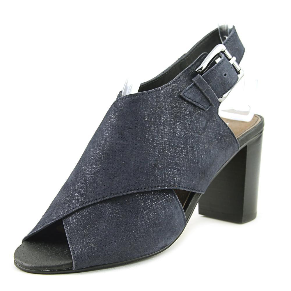 Click here to buy Donald J Pliner Indo-60 Women Peep-Toe Synthetic Blue Slingback Heel by Donald J Pliner.