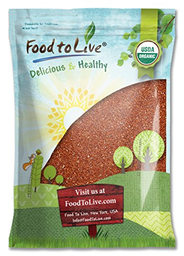 Food To Live ® Organic Red Quinoa (20 Pounds)