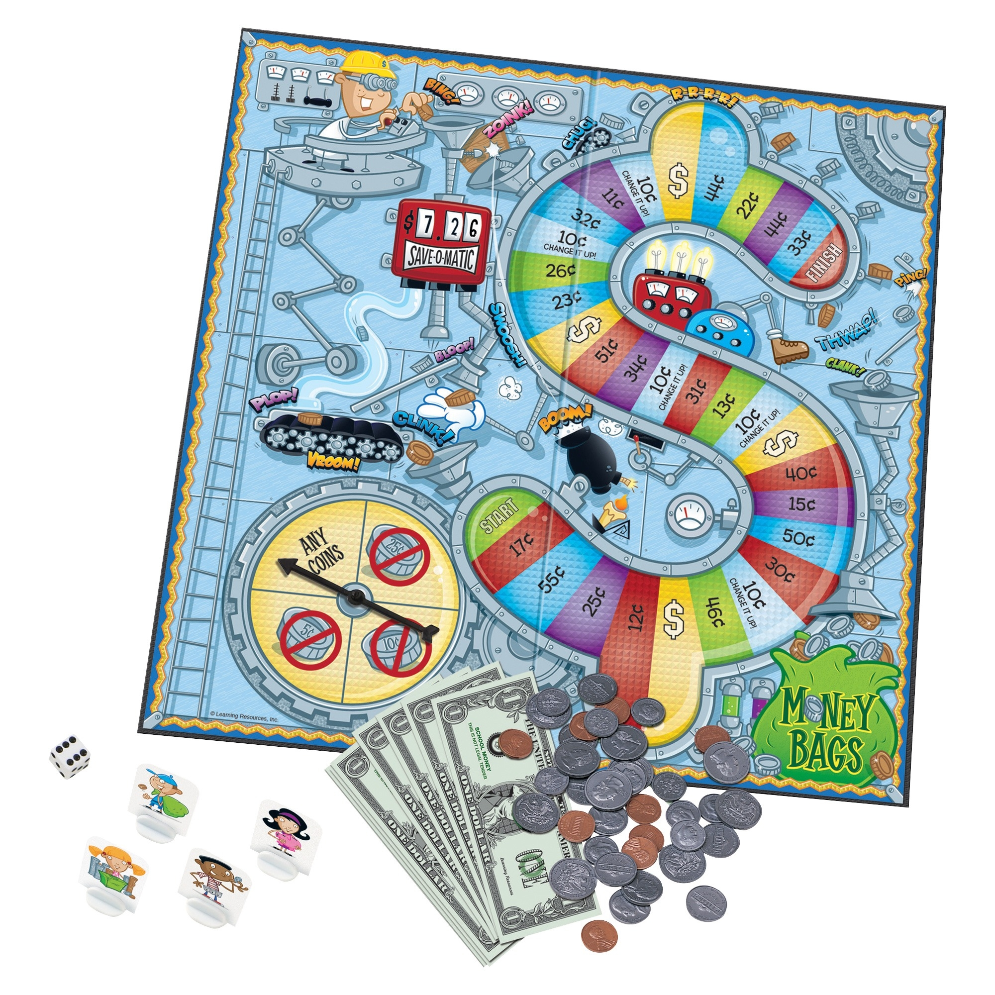 Learning Resources Money Bags Board Game Walmart