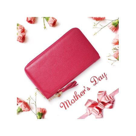 ce5b2a4d84a 20 40 60 Card Slots Fashion Women Genuine Leather Wallets Credit Card Holder  Document Case Zipper Handbag Purse Long Short Wallets Christmas Valentine s  Day ...