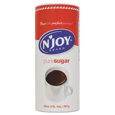 N Joy 94205 20 oz Pure Sugar Cane Canister - 3 per Pack Mango Sugar Cane
