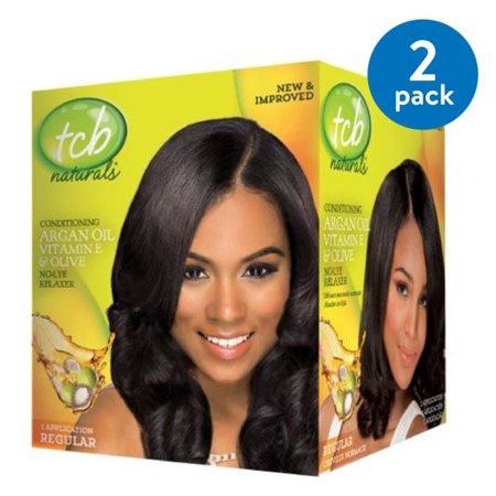 (2 Pack) TCB Naturals Regular Conditioning No-Lye Hair Relaxer Box