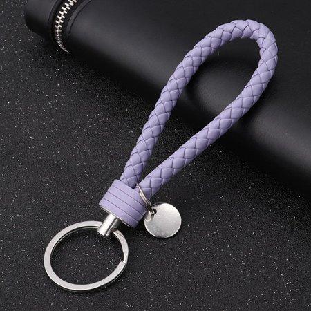 AkoaDa Colorful Vehicle Car Keychain Key Chain Key Ring Key Leather Rope Strap Weave