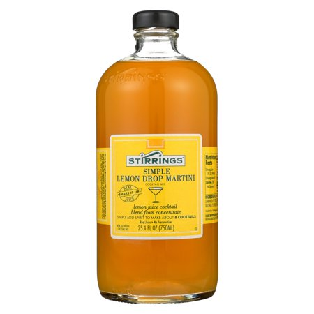 - Stirrings Lemon Drop Cocktail Mixer, 25.4 Fl Oz, 2 Bottles