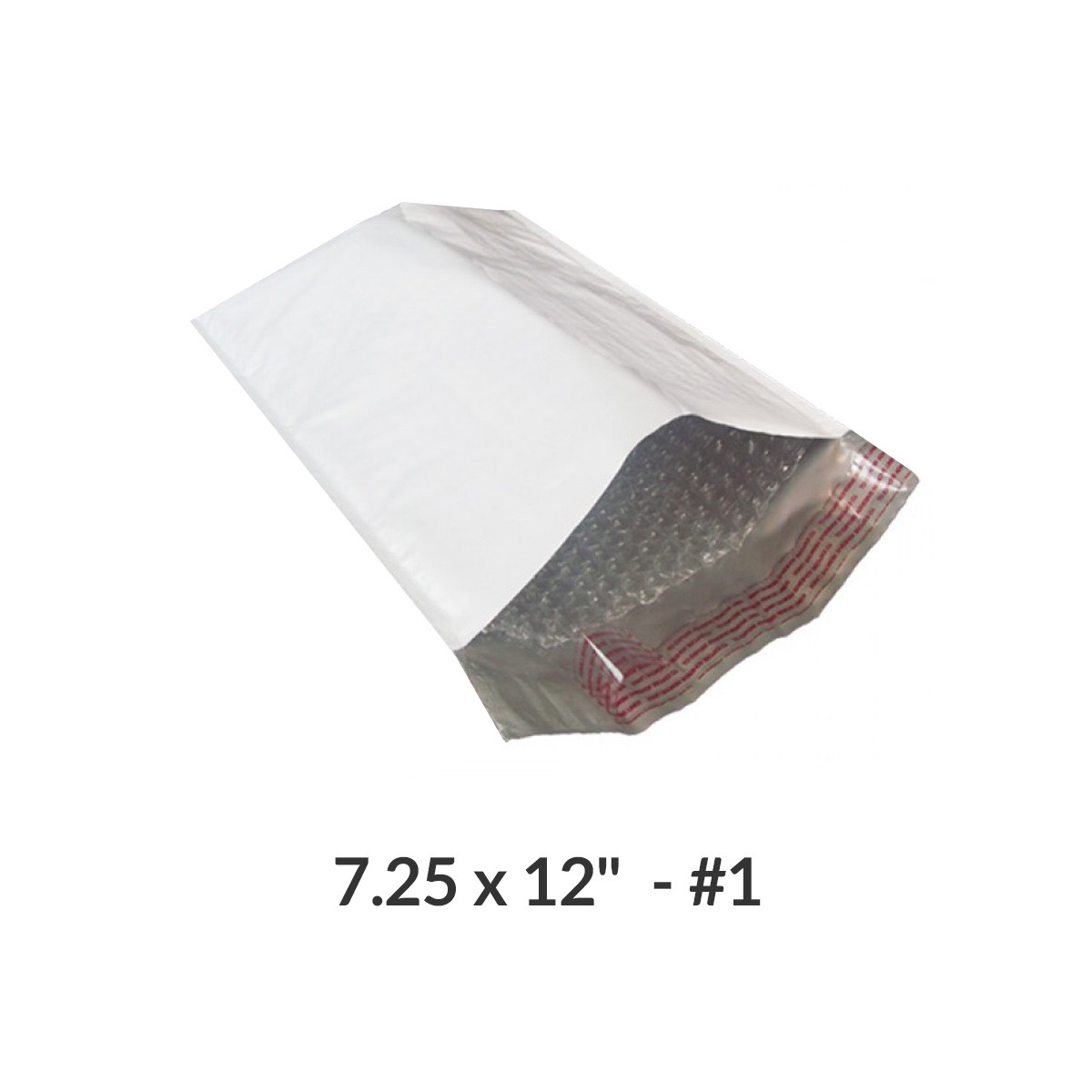 """100 Poly Bubble Mailer Bags 7.25x12"""" #1 Pouches Envelopes White Self-Sealing by Uboxes"""