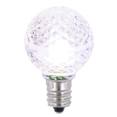 Vickerman G30 Faceted Led Pure White Replacement Bulb E12