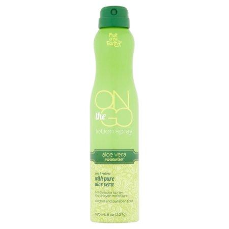 Fruit Of The Earth On The Go Aloe Vera Lotion Spray  8 Oz