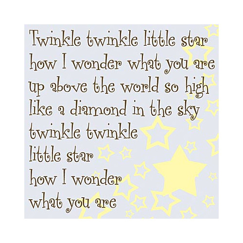 Forest Creations Twinkle Twinkle Little Star Kids Canvas Art