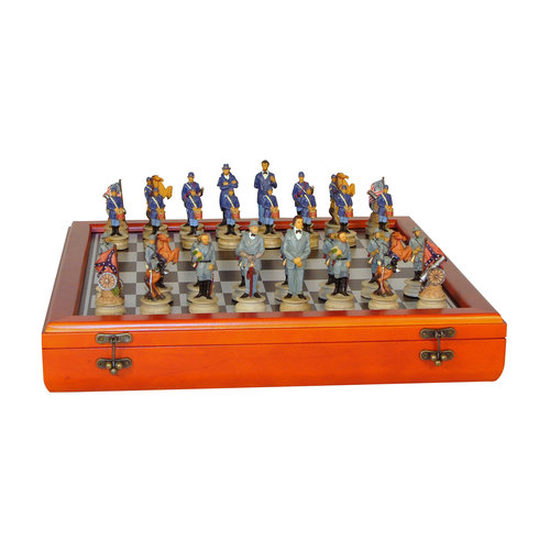 Civil War Generals Chess Set in Chest by WorldWise Imports
