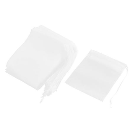 Unique Bargains 50 Pcs White 9cm x 7cm Home Non-woven Fabric Empty Herbal Powder Spice Tea Filter