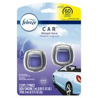 Febreze Car Odor-Eliminating Air Freshener Vent Clips, Midnight Storm, 2 count