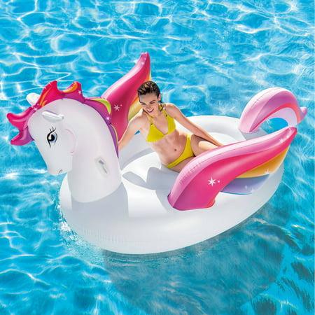Intex Inflatable Mega Pegasus Island Float, 102