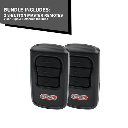 (2 Pack) Genie Master Garage Door Opener Remotes- Works w/ All Genie Garage Door Opener -